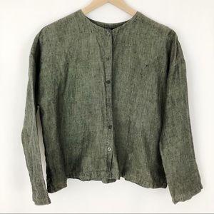 Eileen Fisher Irish Linen Button Down Blouse |A11